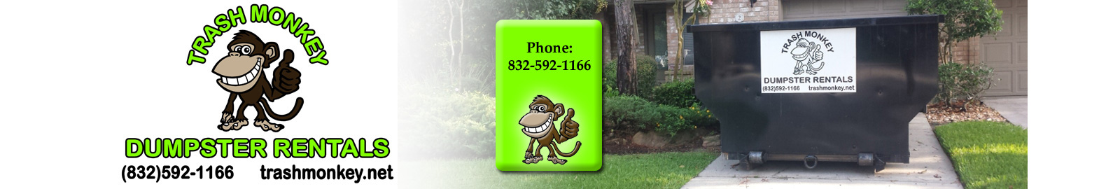 Trash Monkey Dumpster Rental-Banner